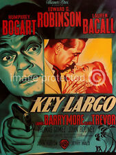 Key Largo Humphrey Bogart Vintage Movie Poster  18x24