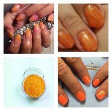 Orange Rainbow Acrylic Powder Pre Mix Glitter Nail Art Extension Designs Builder