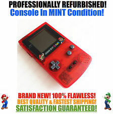 Nintendo Game Boy Color GBC Frontlight Front Light Frontlit Mod Clear Red Mario