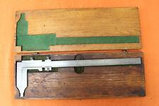 Vintage Helios Insideoutside Vernier Caliper 14 Made In Germany Wood Box N00