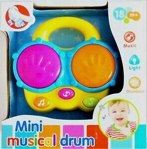 Baby Mini Hand Patting Drum With Light & Music Kids Toy Child Development Gift