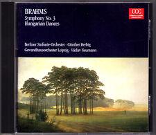 Günther HERBIG: BRAHMS Symphony No.3 & 10 Hungarian Dances Vaclav NEUMANN CD