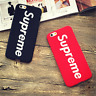 Supreme Case Back Cover for Apple iphone 5 5s 6 6plus 6s 7 Hard Phone Red Black