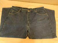 Wrangler Cowboy Cut Slim Fit Jeans Dark Wash Denim Mens Size 42x30
