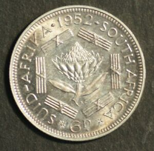 South Africa 1952 Sixpence Proof FDC