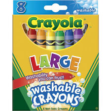 NEW Crayola Large Washable Crayons Assorted Colors Box of 8 (4 Pack)
