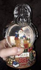 "Vintage Santa Claus Coming to Town Snow Globe San Francisco Music Box Glass 8"""