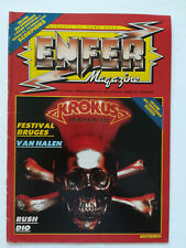 ENFER MAGAZINE n° 3 Van Halen Rush Dio Vulcain hard rock heavy metal 1983