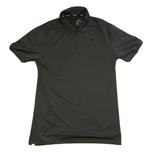 Nike Dri Fit Mens Small Golf Shirt Black/Gray - Excellent Condition - 100% Poly