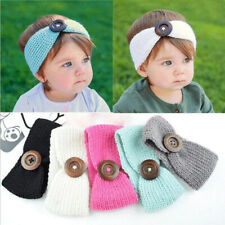 Baby Girl Knit Bow Headband Princess Hair Bands Winter Warm Kid Infant Head Wrap