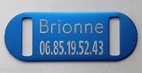 PLAQUE Médaille bleu collier Chien Chat  collier harnais longe gravure offerte