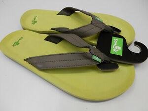 Sanuk Mens Sandals Burm Brindle Size 9