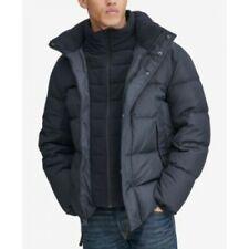 Mens - Marc New York - Down Puffer Jacket Coat with Fleece Bib Blue / Ink - UK M
