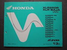 JDM HONDA XLR250R / BAJA MD16/20/22 Original Genuine Parts List Catalog XLR 250