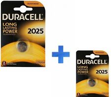 PILA BATTERIA DURACELL DL2025  BOTTONE LITIO 3V CR2025 PILA BOTTONE KIT 2 PEZZI