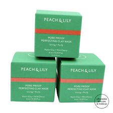 NEW *3X* Peach & Lily Pore Proof Perfecting Clay Mask Minis | 6mL EACH