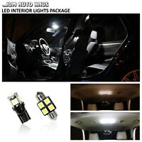 White Interior LED Lights Bulbs Package Kit Fits 1987-1996 Ford F150 F-150