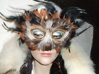Funky  Feathered Masquerade Ball /new years Eve Party Masks, brown / black