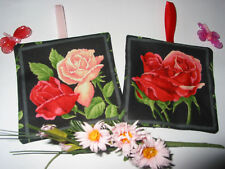 LAVENDER BAGS SACHETS HANGING DECORATIONS HANDMADE ENGLISH ROSE FABRIC GIFT