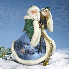 Thomas Kinkade Figurine - DAWN OF CHRISTMAS DAY SANTA New  Item 0319303003 COA