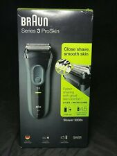 NEW Braun Series 3 ProSkin 3000s Rechargeable Electric Shaver for Men, Black