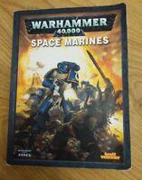 Warhammer 40k Games Workshop Space Marines Codex Supplement Book