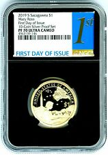 2019 S $1 SACAGAWEA PROOF NGC PF70 UCAM FIRST DAY OF ISSUE DOLLAR BLACK CORE