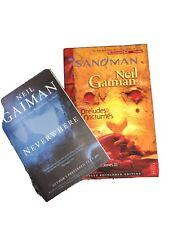 A lot of 2 Neil Gaiman paperbacks - Sandman Preludes & Nocturnes + Neverwhere