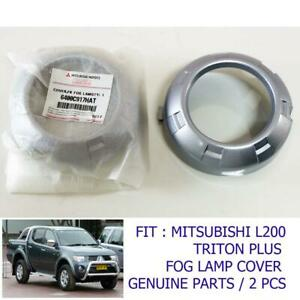 Fit 2008-2010 Fog Lamp Cover Trim Mitsubishi L200 Triton Plus Genuine Part Set