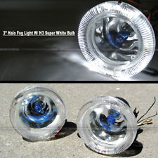 "For Explorer 3"" Round Super White Halo Bumper Driving Fog Light Lamp Compl Kit"