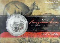2014 KANGAROO SILVER 1oz Coin Carded
