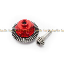Stainless Steel 43T/13T Bevel Pinion Gear Set Red for Axial SCX10