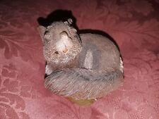 "Vtg ""Sylvia"" Tim Wolfe Figurine Squirrel 1991 Cairn Studio Retired Tom Clark Euc"