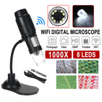 Wireless WiFi for iPhone/Android HD 1080P Portable MIni Digital Microscope