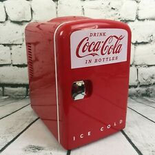 Retro Coca-Cola Personal 6 Can Mini Fridge Refrigerator Red KWC-4 Cooler /Warmer