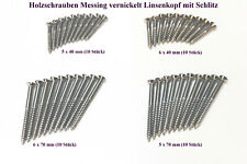10 pieces M3 x 12mm Slotted Steel Screw-In Inserts For Wood Zp #100309