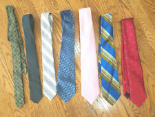 7 Vtg Men's Neck Ties Striped Solid Geometric by Mainstreet Other