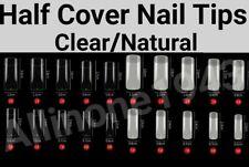 100/500pcs Half Cover French Nail Tips Artificial False Acrylic UV Gel Nail Tips