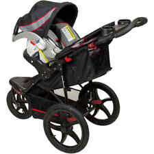 Baby Jogging Stroller Running Jogger Swivel Tires Folding All Terrain Black Red