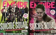 Empire September 2015 Suicide Squad JARED LETO Margot Robbie Cara COVER 1&2 NEW