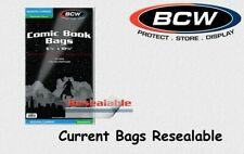 BCW - 100 Comic Book Bags - Hüllen - Current - Resealable - Wiederverschließbar
