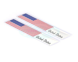 2pcs Metal United States USA National Flag Decal Emblem Badge Sticker