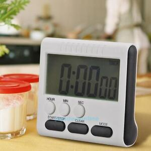 Magnetic Large LCD Digital Home Kitchen Timer Alarm Count Up Down Clock Cooking