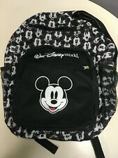 Authentic Walt Disney World Parks Mickey Mouse Backpack Black And White