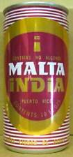 MALTA INDIA red 10oz Non-Alcoholic empty Beer CAN PUERTO RICO