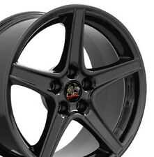 18x10 Wheel Fits Ford Mustang Saleen Style Blk Rim REAR W1X