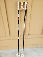 Vintage APACHE 124 cm Ski Poles 1970s Red, White, and Blue