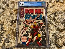 IRON MAN AND SUB-MARINER #1 CGC 9.4 OW PAGES SUPER HIGH END MARVEL KEY HOT BOOK!