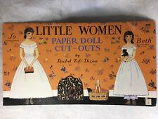 1934 Reproduction Little Women Paper Dolls Rachel Taft Dixon Uncut Hepburn