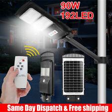 90W Solar Powered LED Street Light Radar Indution PIR Motion Sensor Wall Lamp